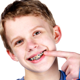 Image of Child with Orthodontic Treatment